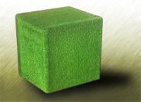 Резиновый куб с искусственной травой