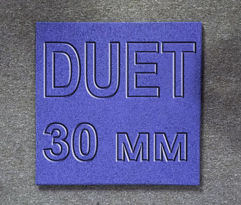 Плитка резиновая МИАН DUET (двухсторонняя) 30 мм
