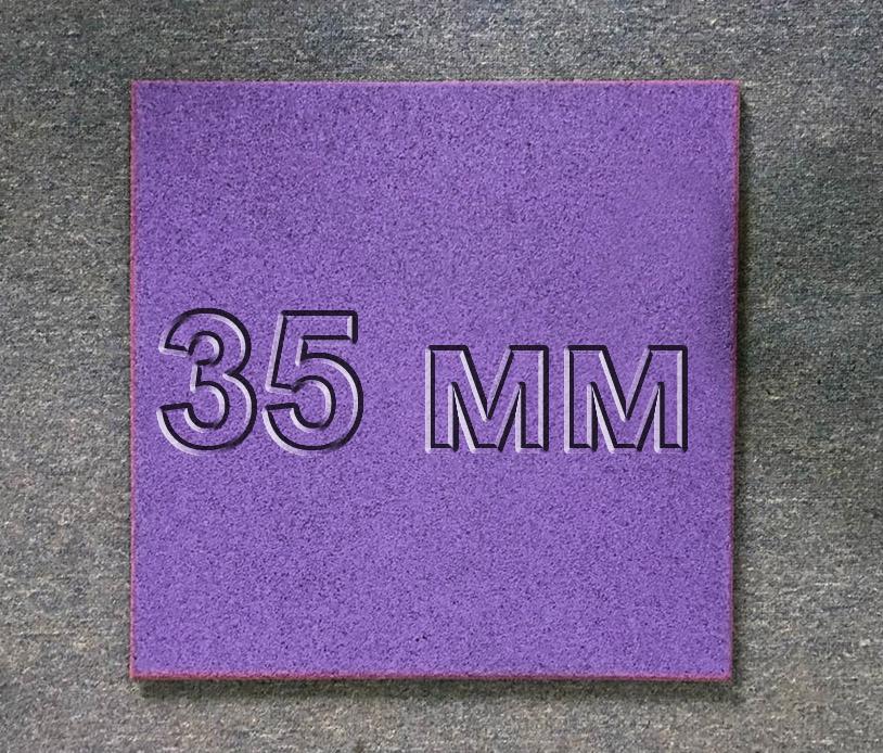 Резиновая плитка МИАН 35 мм