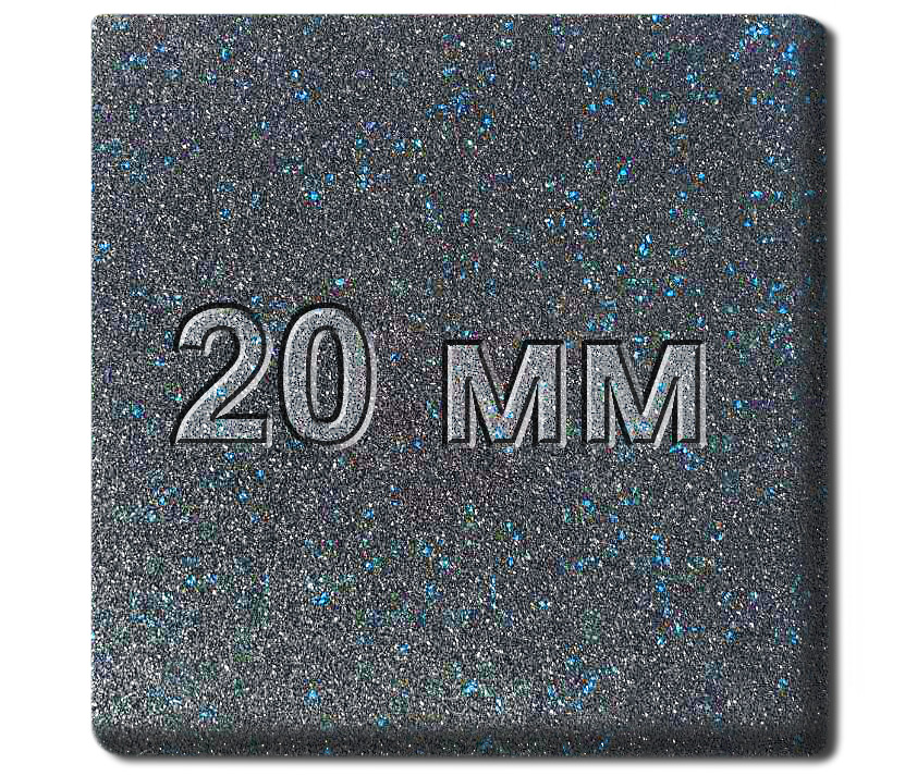 Резиновая плитка МИАН Galaxy 20 мм