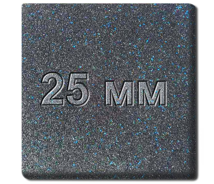 Резиновая плитка МИАН Galaxy 25 мм