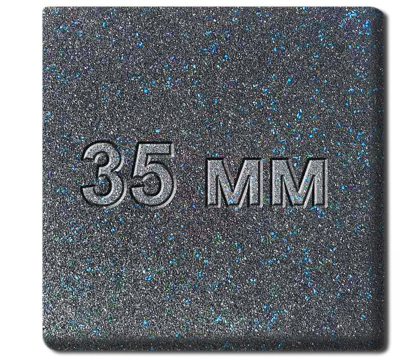 Резиновая плитка МИАН Galaxy 35 мм
