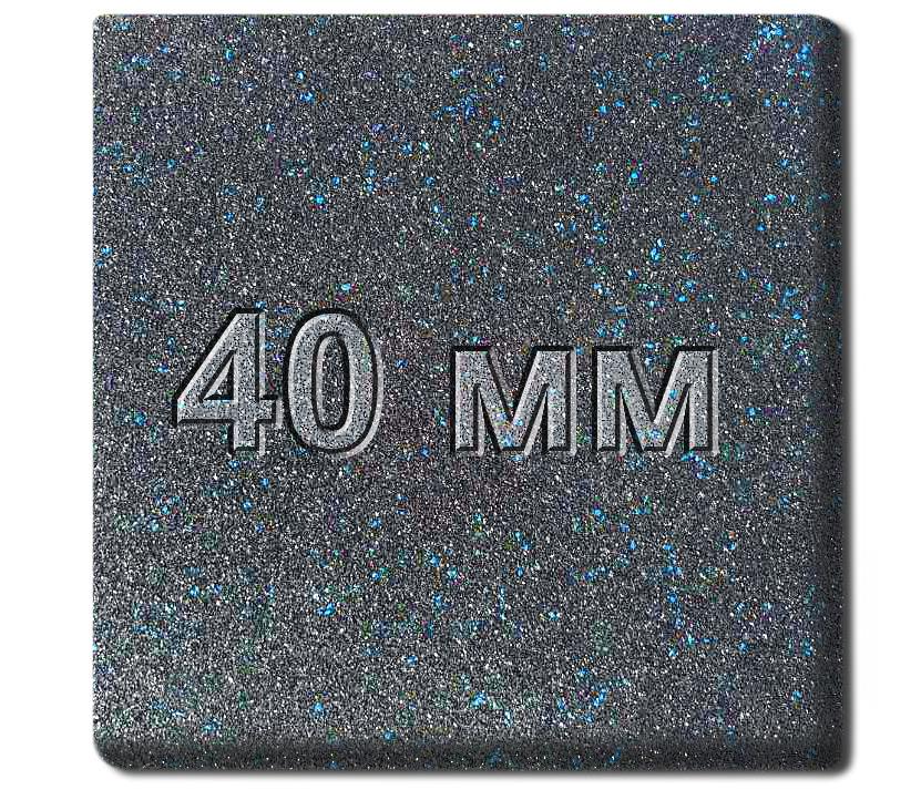 Резиновая плитка МИАН Galaxy 40 мм