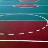 Бесшовное покрытие - разметка футбольного стадиона