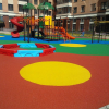 Детская площадка с бесшовным резиновым покрытием