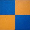 Резиновая плитка МИАН 50 мм зеленая вариант укладки