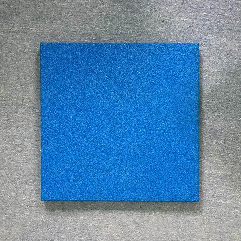 Резиновая плитка - синий