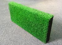 Резиновый бордюр с искусственной травой