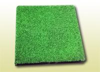Гумова плитка зі штучною травою