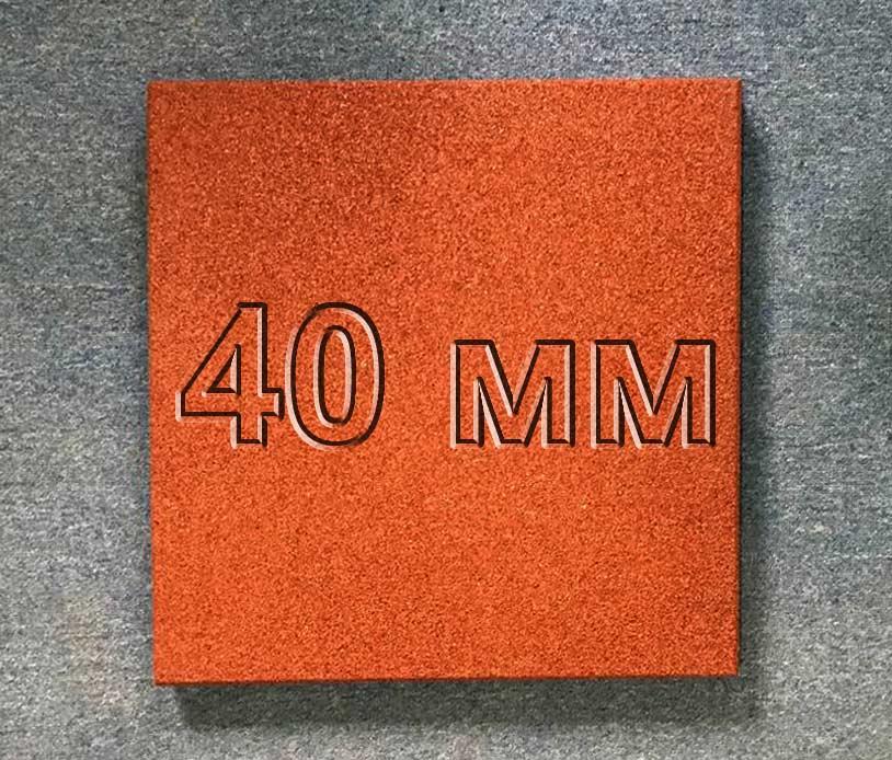 Резиновая плитка МИАН 40 мм