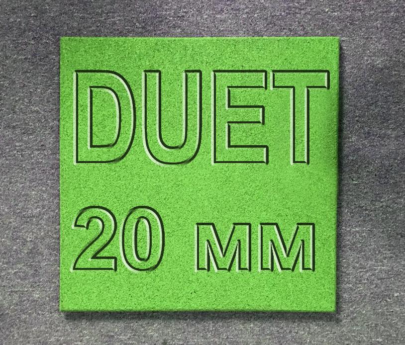 Плитка резиновая МИАН DUET (двухсторонняя) 20 мм