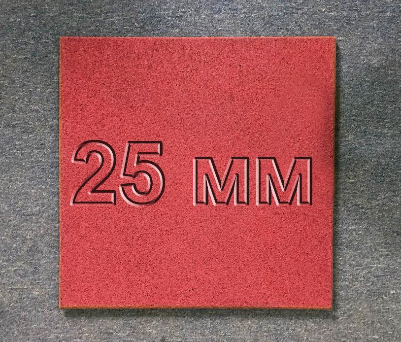 Резиновая плитка МИАН 25 мм